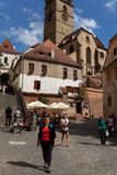 Tourists in Sibiu Stock Photos