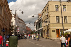 Tourists in Sibiu Royalty Free Stock Photos
