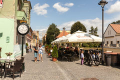Tourists in Sibiu Royalty Free Stock Photography