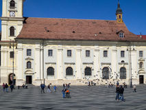 Tourists in Sibiu Stock Images