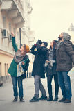 Tourists Sightseeing City Stock Image