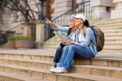 Tourists sightseeing city Royalty Free Stock Photo