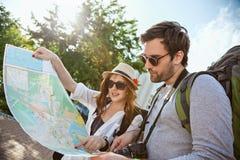 Tourists Sightseeing City Stock Image