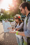 Tourists Sightseeing City Stock Photos