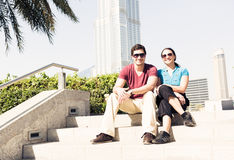 Tourists Sightseeing In Dubai Royalty Free Stock Image
