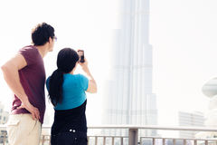 Tourists Sightseeing In Dubai Royalty Free Stock Photos