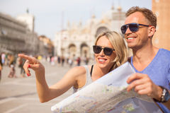 Tourists sightseeing in Venice Royalty Free Stock Images