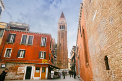 Tourists sightseeing Venice Royalty Free Stock Photos