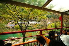 Tourists sightseeing view from Sakano Romantic Train Stock Photography