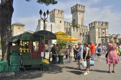 Tourists in Sirmione Stock Photos