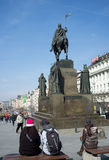 Statue of St. Wenceslas in Prague Royalty Free Stock Photography