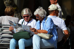Tourists Stock Photo