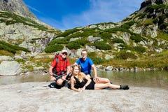 Tourists in Slovakian Vodopad Skok Stock Photography
