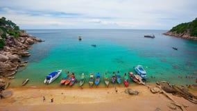 Tourists snorkeling Royalty Free Stock Photo