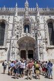 Tourists South Portal Jeronimos Monastery Lisbon Royalty Free Stock Photography