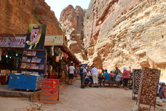 Tourists Souvenirs Area Royalty Free Stock Photography