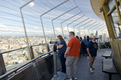 Tourists at the Space Needle in Seattle Stock Image