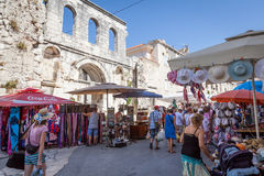 Tourists in Split, Croatia Stock Photography
