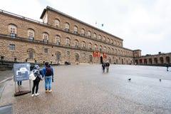 Tourists on square Piazza Pitti near Palazzo Pitti Stock Images
