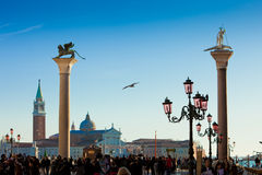Tourists in St. Mark's Square, Venice Stock Image