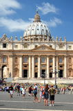 Tourists on St. Peter's Square in Vatican City Stock Photos