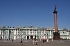 Tourists at St Petersburg landmark Stock Image