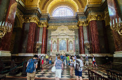 Tourists in St. Stephen's Basilica, Budapest Royalty Free Stock Image