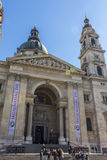Tourists at St. Stephen's Basilica Stock Photography