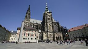 St. Vitus cathedral in Prague stock footage