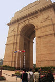 Tourists standing by India Gate, New Delhi Stock Photo