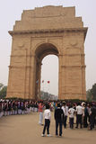 Tourists standing by India Gate, New Delhi Stock Photography