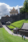 Tourists at Stirling Castle, Scotland royalty free stock images