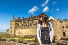 Tourist at Stirling Castle Royalty Free Stock Photo