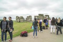 Tourists Stonehenge Stock Photos
