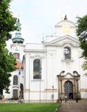 Tourists on Strahov Monastery Stock Image