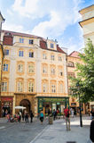 Tourists in the streets of Prague Stock Photos