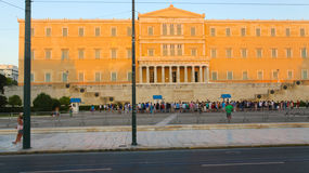 Tourists Stroll at Athens, Greece Stock Photo