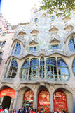 Tourists stroll and enjoy at Barcelona Royalty Free Stock Image