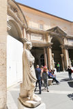 Tourists stroll - Vatican Museum Stock Photo