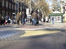 The Ramblas of Barcelona, Spain. Royalty Free Stock Photo