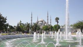 Tourists on Sultanakhmet Square. stock footage