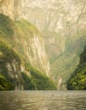 Tourists In Sumidero Canyon Mexico Royalty Free Stock Photography