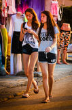 Tourists Of Summer Town Royalty Free Stock Images