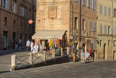 Via della Sapienza - Siena Royalty Free Stock Photo