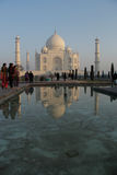 Tourists in the Taj Mahal Royalty Free Stock Photos