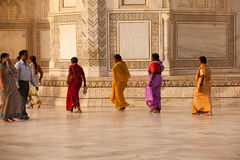 Tourists at the Taj Mahal Royalty Free Stock Photography