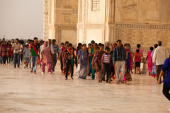 Tourists at the Taj Mahal Stock Photography