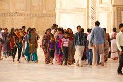 Tourists at the Taj Mahal Stock Image