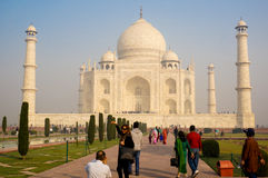 Tourists at the Taj Mahal Stock Image