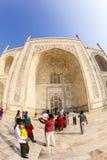 Tourists at the Taj Mahal in Agra, India Stock Photos